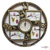 Мультирамка для фотографий с часами Время