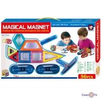 Дитячий магнітний конструктор з колесами Magical Magnet 56 деталей - Танк