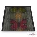 Москітна сітка-шторка на двері на магнітах Insta Screen (Magic Mesh) з метеликами