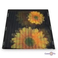 Москітна сітка-шторка на двері на магнітах Insta Screen (Magic Mesh) з соняшниками