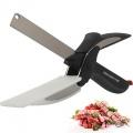 Кухонный нож ножницы для резки зелени и овощей Clever Cutter 2 в 1