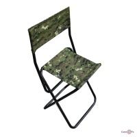 Розкладний похідний стілець для риболовлі та пікніків зі спинкою
