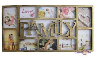 Мультирамка-коллаж на стену Family на 10 фото (143L)