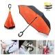 Обратный механический зонт-трость Reverse Umbrella, антизонт, купол - 106 см
