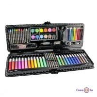 Дитячий подарунковий набір для малювання та творчості у валізці Art set, 92 предмета