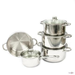Набор кухонной посуды - кастрюли из нержавеющей стали Giakoma G-5832