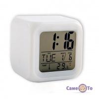 Настільний електронний годинник-хамелеон з підсвічуванням Glowing LED Color Change