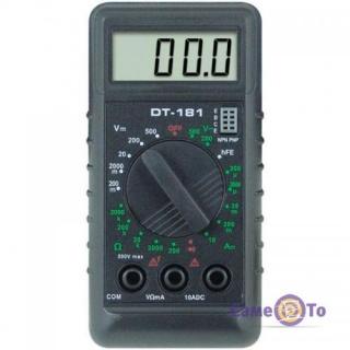 Компактный цифровой мультиметр DT-181