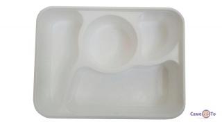 Пластиковый пищевой контейнер (lunch box) для еды с отделением для супа