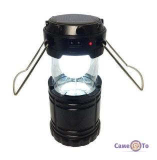 Туристичний кемпінговий ліхтарик на сонячній батареї Rechargeable Camping Lantern G-85 6LED