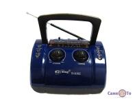 Портативний радіоприймач-колонка з акумулятором Бумбокс Pu Xing Rec MP3 USB