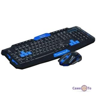 Комплект из беспроводной игровой клавиатуры и мышки UKC HK8100