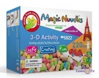 Развивающий мягкий конструктор для детей Magic Nuudles, 220 деталей