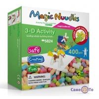 Розвиваючий м'який конструктор для дітей Magic Nuudles, 400 деталей