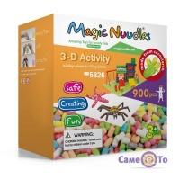Розвиваючий м'який конструктор для дітей Magic Nuudles, 900 деталей