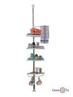 Кутова металева полиця для ванної кімнати Aidesen GY-188 Multi Corner Shelf до 320 см