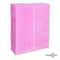Портативна мобільна шафа з тканини для одягу Storage Wardrobe YQF130-14