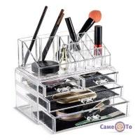 Акриловый органайзер для косметики - коробка косметичка Cosmetic storage box