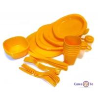 Набір пластикового посуду для пікніка на 6 персон, Bita 48 предметів