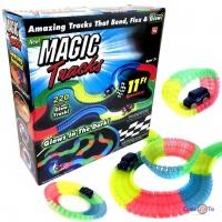 Дитячий іграшковий гоночний трек Magic Tracks 220 деталей + 2 машинки