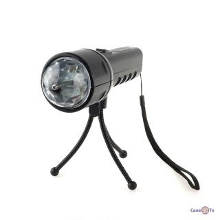 Портативный проектор со штативом - светомузыка для дома