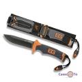 Стальной туристический походный нож Gerber BG с чехлом и кременем (реплика)