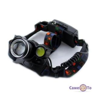 Налобний світлодіодний акумуляторний led ліхтар Bailong Police BL-878 T6 COB