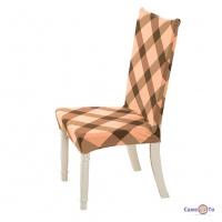 Еластичний чохол-накидка на кухонний стілець