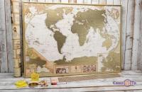 Скретч карта мира на стену My Map Antique Edition ENG