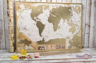 Скретч карта світу на стіну My Map Antique Edition ENG