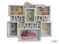 Мультирамка для фотографій Live Laugh Love 1001433