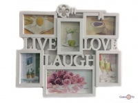 Мультирамка для фотографий Live Laugh Love 1001433
