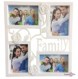 Мультирамка-коллаж для фотографий на стену Family Rose (25)