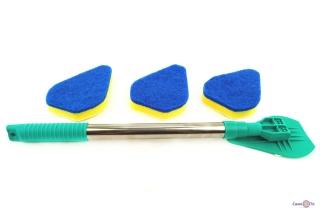 Универсальная телескопическая щетка-швабра с насадками для уборки Clean Reach