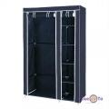 Портативный тканевый шкаф органайзер для одежды на 2 секции