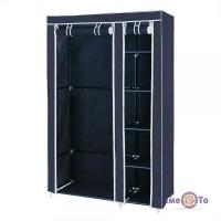 Портативна тканинна шафа органайзер для одягу на 2 секції