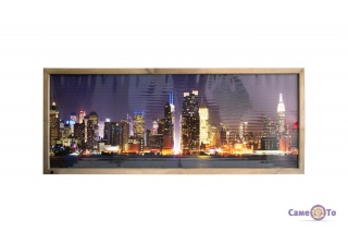 Настенный инфракрасный электрический обогреватель-картина VIP Нью-Йорк Трио