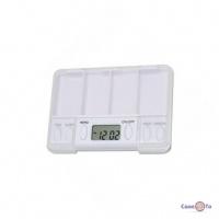 Дорожня таблетниця-контейнер для таблеток і пігулок з таймером Pills Reminder
