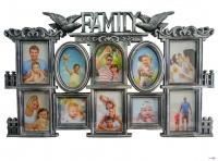 Большая мультирамка для коллажа на стену Family на 10 фотографий (28)