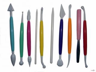 Набор стеков для украшения тортов и работы с мастикой Modelling Tools