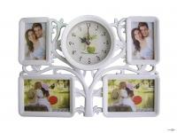 Мультирамка-колаж для фотографій з годинником на стіну Family Tree (36)