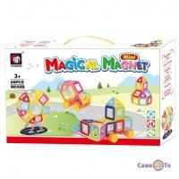 Дитячий розвиваючий магнітний конструктор Magical Magnet Mini M058B, 68 деталей