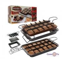 Форма для выпечки пироженых Perfect Brownie Перфект Брауни