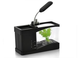 USB акваріум + органайзер, годинник, термометр