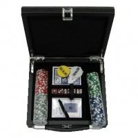 Покерний набір 100 фішок, кейс - шкіра