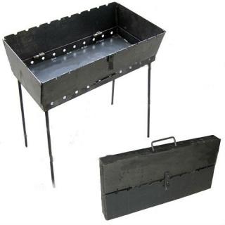 Мангал-чемодан раскладной переносной на 8 шампуров