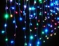 Разноцветная гирлянда Дождь 600 LED 2х2 метра