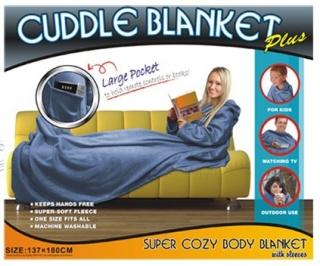 Плед с рукавами Cuddle Blanket флисовый