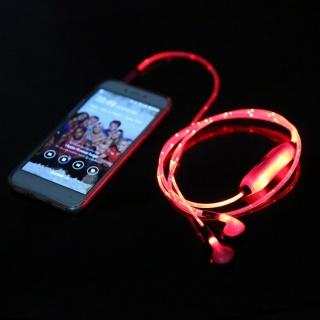 Сяючі навушники в такт музиці Lighted Earphone