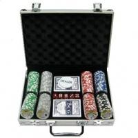 Покерний набір 200 фішок, кейс - металік
